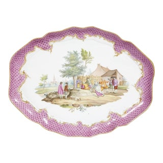 19th Century Meissen Porcelain Tray For Sale