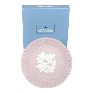 Wedgwood Lavender Jasperware English Trinket Tray With Gift Box For Sale
