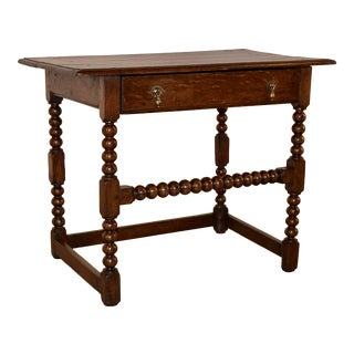 17th C. English Oak Side Table For Sale