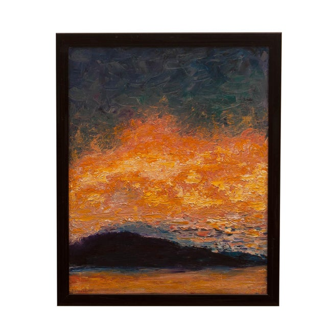 """Abstract """"Sunrise"""" Abstract Modern Painting For Sale - Image 3 of 3"""