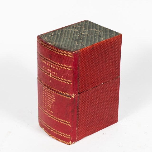 Red Book Boxes With Blue Interior - Collection of 22 For Sale In Los Angeles - Image 6 of 7