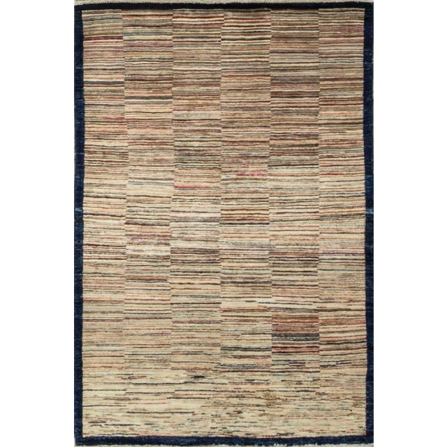 "Contemporary Hand Woven Rug - 3'11"" X 5'10"" For Sale - Image 4 of 4"