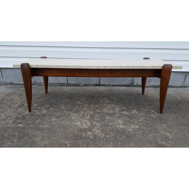 1950s Mid-Century Modern Gio Ponti for Singer & Sons Travertine Coffee Table For Sale - Image 13 of 13
