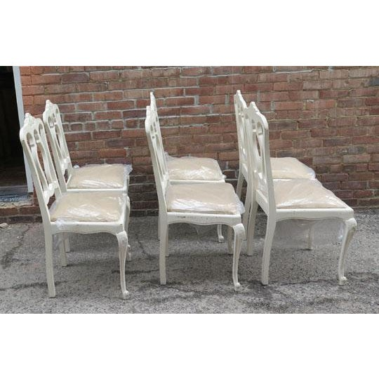 Set of Six Vintage French Chairs For Sale - Image 4 of 8