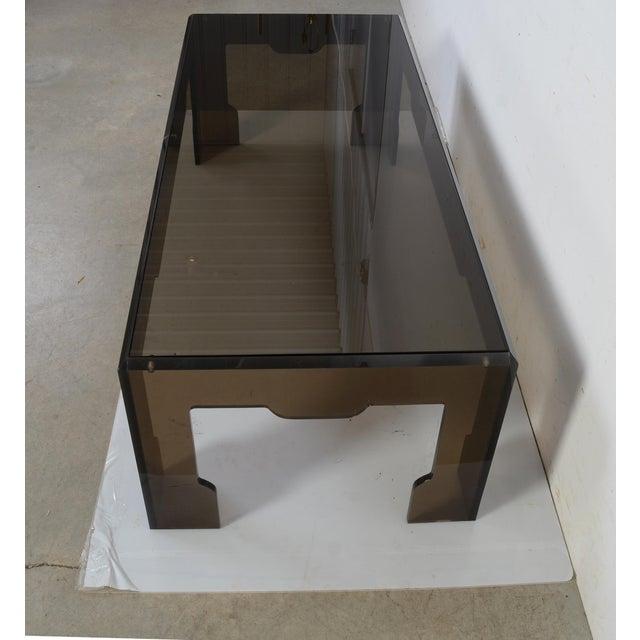 Jeffrey Bigelow Jeffrey Bigelow Lucite Glass Coffee Table For Sale - Image 4 of 9