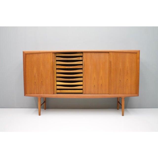 Axel Christensen Danish Teak Wood Sideboard by Axel Christensen for Aco Mobler 1960s For Sale - Image 4 of 8