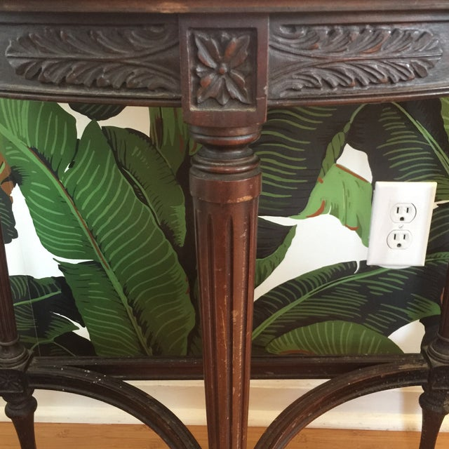 Imperial Mahogany Console Table with Mirror - Image 6 of 9