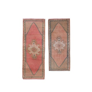 Small Traditional Oriental Style Turkish Rug-Set of 2 For Sale