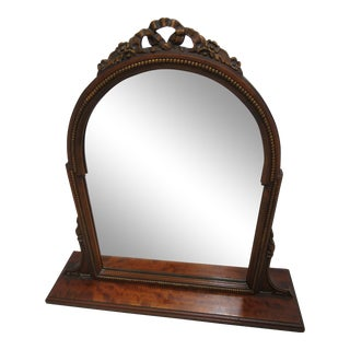 1930s Art Deco Walnut Shaving Mirror For Sale