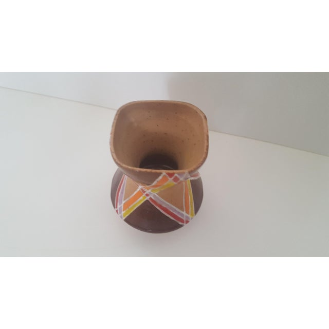 Boho Chic Vintage Studio Pottery Small Sculptural Vase Vessel For Sale - Image 3 of 10