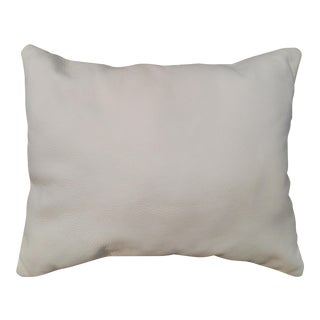 Contemporary White Leather Pillow