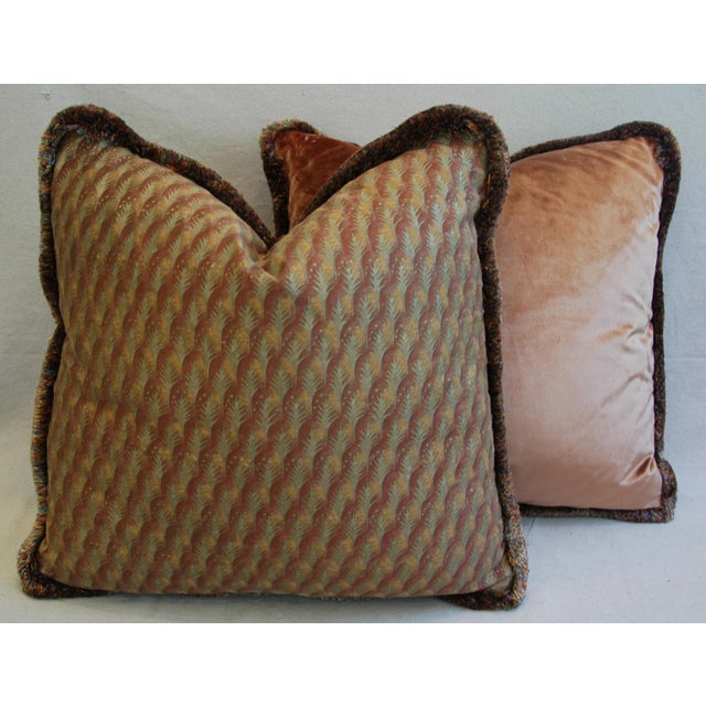 "23"" Custom Tailored Italian Mariano Fortuny Piumette Feather/Down Pillows - Pair For Sale - Image 10 of 11"