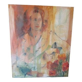 Vintage Portrait Painting of Woman