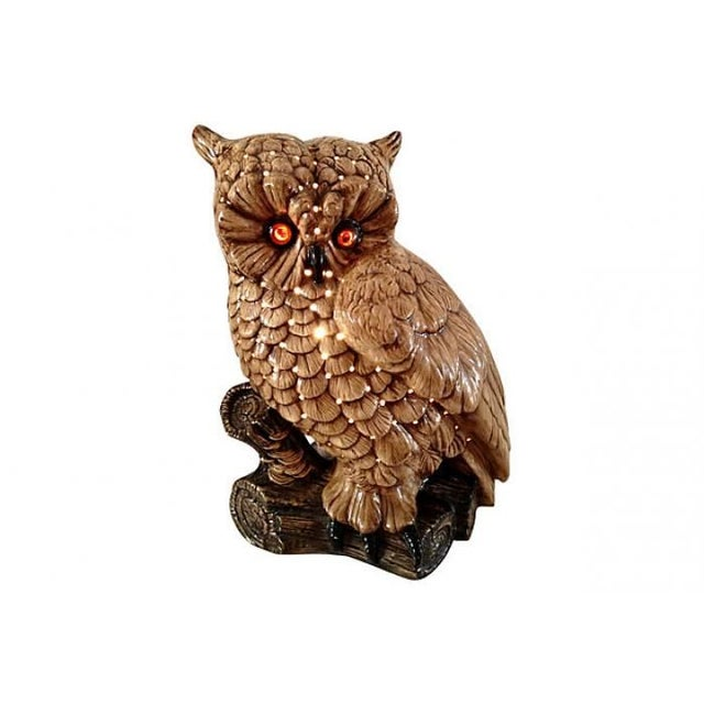 Mid-Century Ceramic Owl Lamp - Image 2 of 10