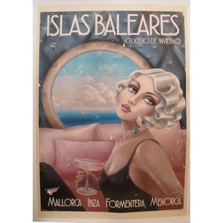 2018 Modern Travel Mallorca Poster, Islas Baleares \ Cruecero De Invierno Preview
