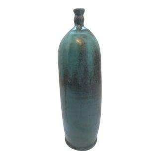 Turquoise Ceramic Drip Glaze Bottle Vase