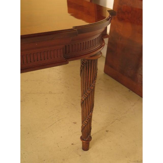 EJ Victor Regency Burl Walnut Dining Room Table For Sale In Philadelphia - Image 6 of 11