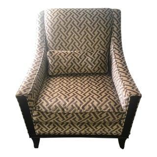 Modern Kravet Brown Armchair For Sale