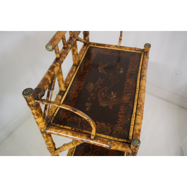 19th-Century Bamboo Book Shelf and Magazine Rack For Sale - Image 4 of 8