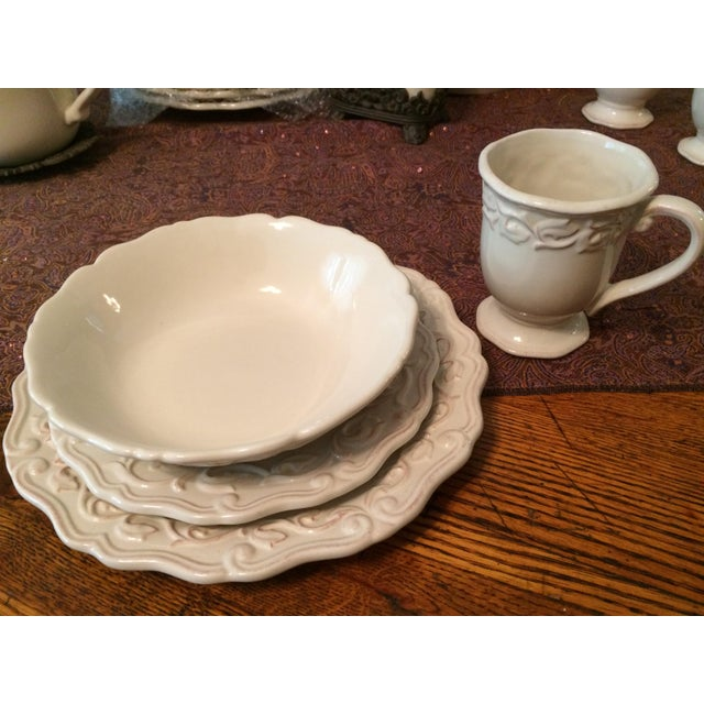 Chris Madden Corvella Ivory Tableware | Chairish