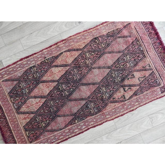 Masterwork Hand-Woven Rug Braided Small Kilim 1′6″ × 3′ For Sale - Image 4 of 8