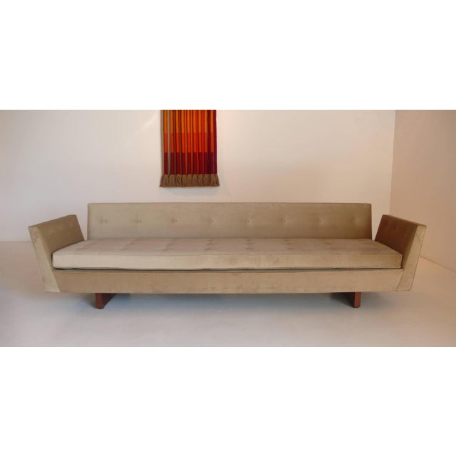 Mid-Century Modern Pair of Edward Wormley Split-Arm Sofas For Sale - Image 3 of 4
