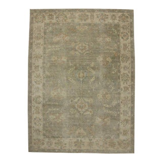 Contemporary Oushak Style Rug With Warm, Neutral Colors - 10'02 X 13'10 For Sale