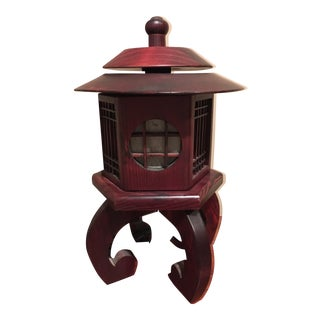 Vintage Chinese Rosewood Lantern For Sale