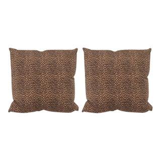 Cheetah Print Pillows - A Pair For Sale