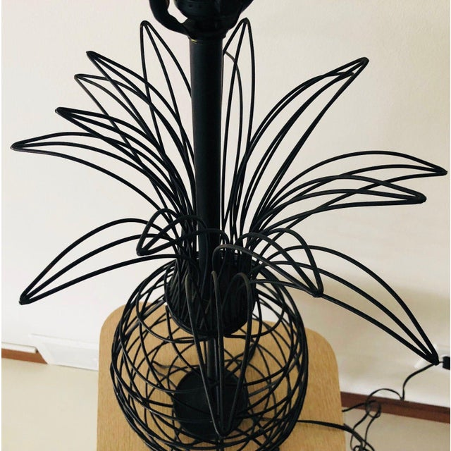1950s Vintage Ferris Shacknove Black Wire Pineapple Lamp For Sale In Saint Louis - Image 6 of 9