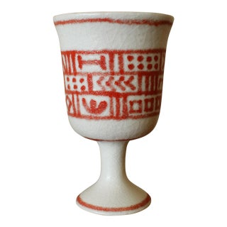 Guido Gambone Donkey Mark Italian Pottery Vase For Sale