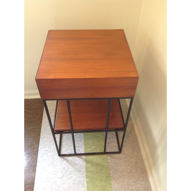 Ashley Hicks Steel & Teak Nightstand - Image 7 of 10