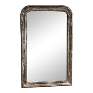 Antique Silver Louis Philippe Mirror For Sale