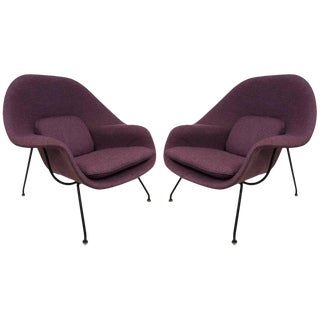 Pair of Eero Saarinen Womb Chairs for Knoll
