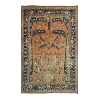 Vintage Persian Mahal Rug with Traditional Modern Style