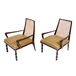 Mexican Modernist Lounge Chairs Attributed to Eugenio Escudero For Sale