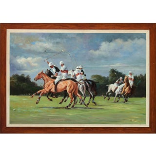 """""""Polo Match"""" Oil Painting For Sale"""
