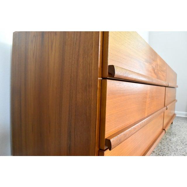 Vintage Danish Modern Teak Lowboy Dresser - Image 5 of 8