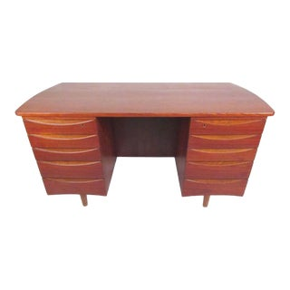 Mid-Century Modern Arne Vodder Double-Sided Teak Desk For Sale