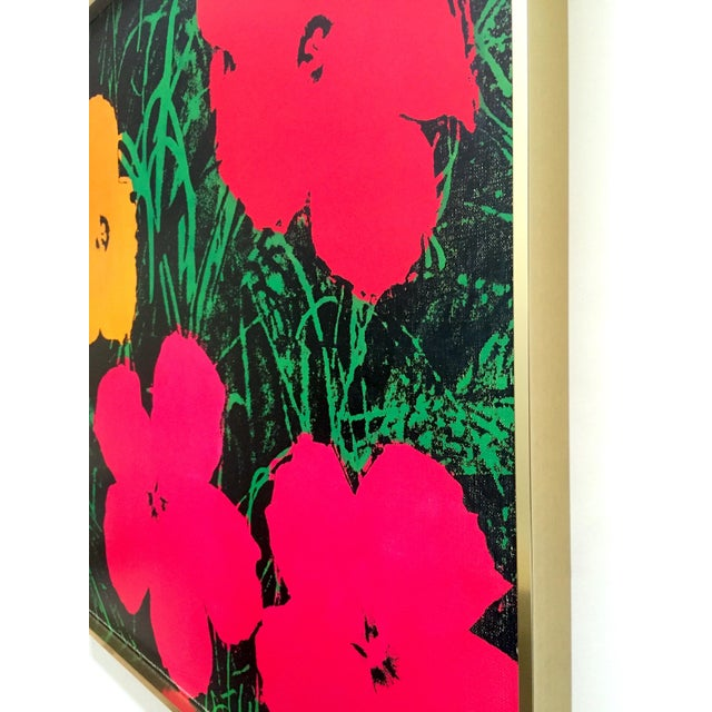"Andy Warhol Foundation Rare Vintage 1993 Lithograph Print Framed Iconic Pop Art Poster "" Flowers "" 1964 For Sale - Image 11 of 13"