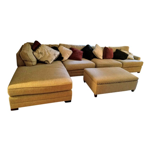 King Hickory Casbah Sectional With Ottoman - Image 1 of 4
