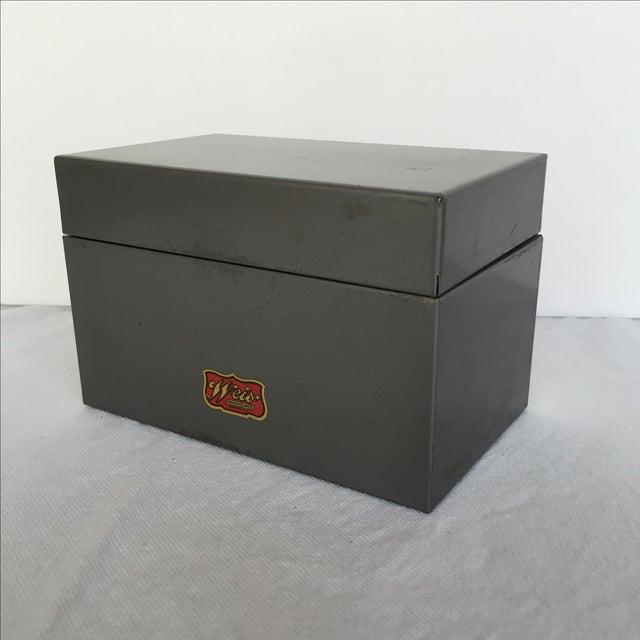 Mid-Century Metal Index Box - Image 4 of 7