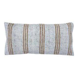 Stripe Farmhouse Vintage Hemp Pillow For Sale