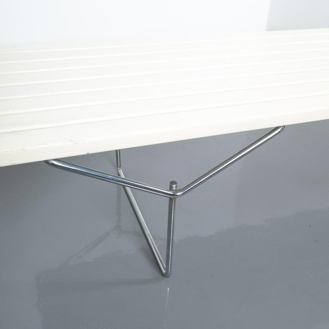 Lacquer Vintage Harry Bertoia for Knoll Slat Bench Model 400 For Sale - Image 7 of 10