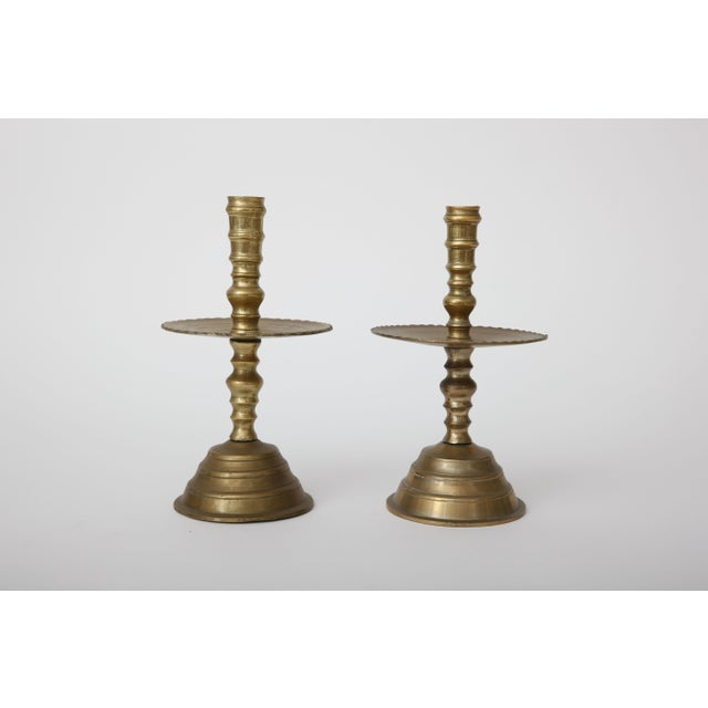 Vintage Brass Candlesticks - A Pair - Image 2 of 3