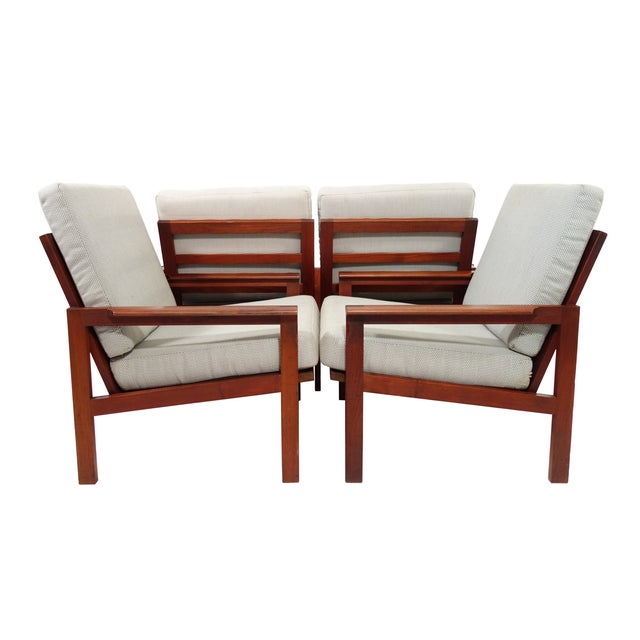 Mid-Century Wikkelso Sofa & Two Lounge Chairs - Image 7 of 9