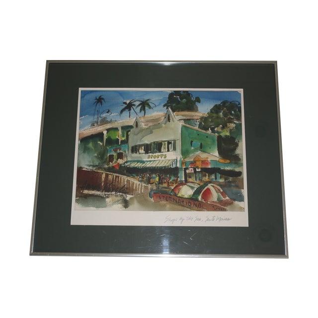 Santa Monica Shoreline Original Watercolor - Image 1 of 6