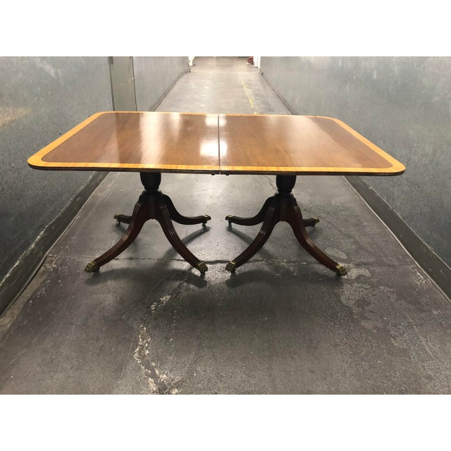 Vintage Queen Ann Convertible Pedetstal Table For Sale - Image 4 of 13