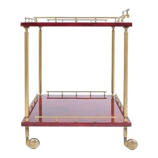 Large Aldo Tura Bar Cart or Side Table, circa 1960 For Sale