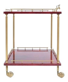 Image of Leather Bar Carts and Dry Bars